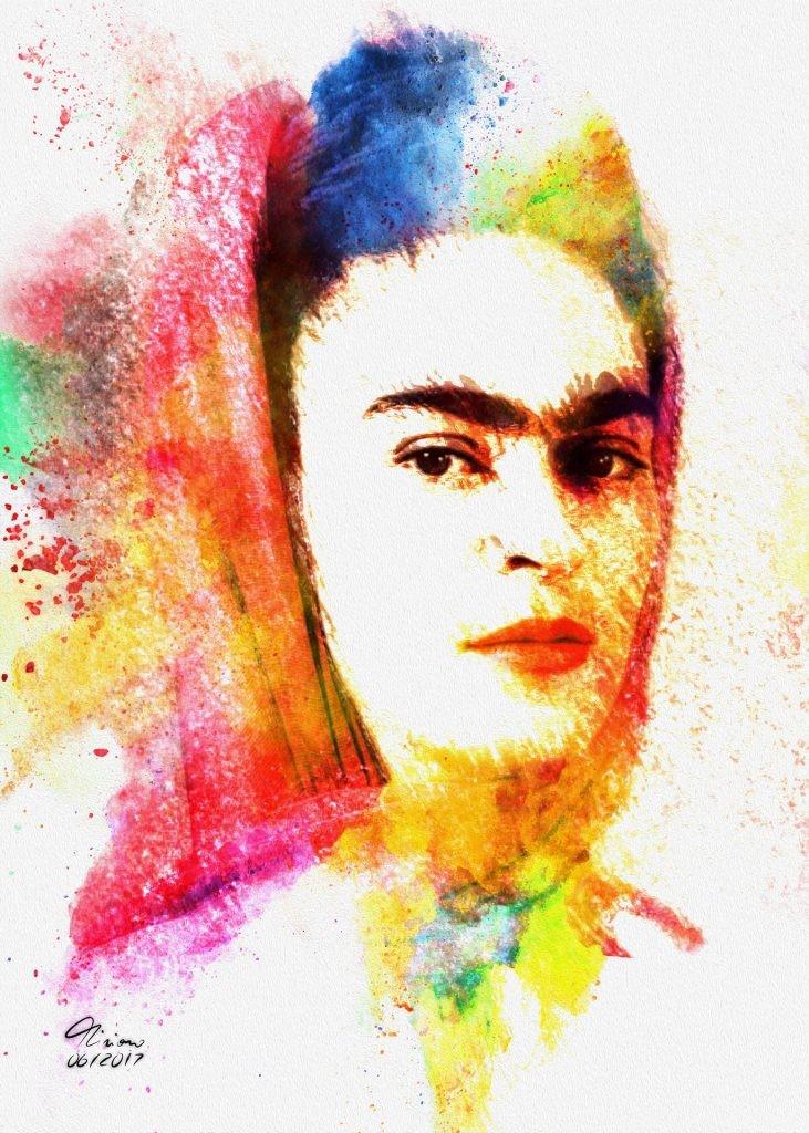 "Mario Salvo sull'opera "" Frida Kahlo """